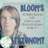 Blooms Taxonomy Reading Responses