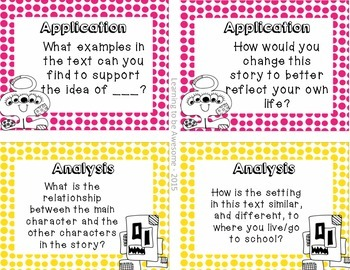 Blooms Taxonomy Reading Responses