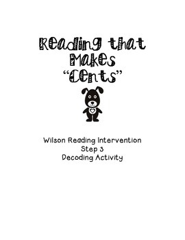 """Reading that Makes """"Cents""""Step 3 Decoding Activity"""
