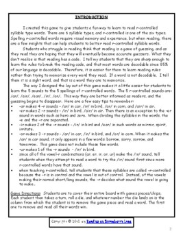 Reading the 4 Sounds of r-Controlled Vowels