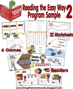 Reading the Easy Way 2 {108 page 12 week primer dolch word program) Kindergarten