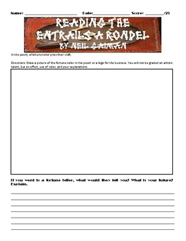 Reading the Entrails : A Rondel by Neil Gaiman Assignment