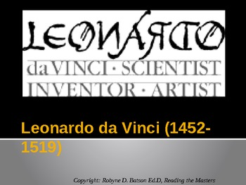 Reading the Masters - Leonardo daVinci (Power Point)
