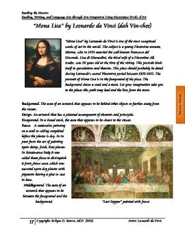 Reading the Masters - Leonardo daVinci (Teacher/Student Manual)