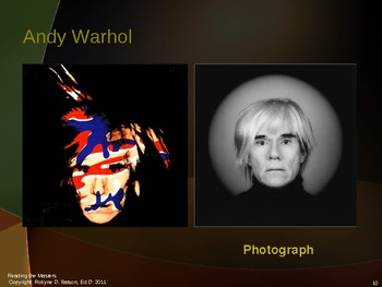 Reading the Masters with Andy Warhol (Power Point)
