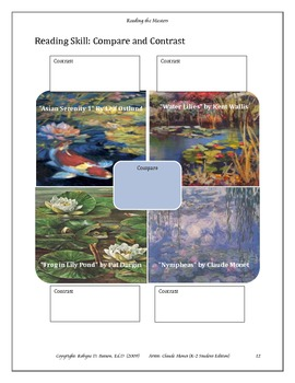 Reading the Masters with Claude Monet (K-2) Student Edition