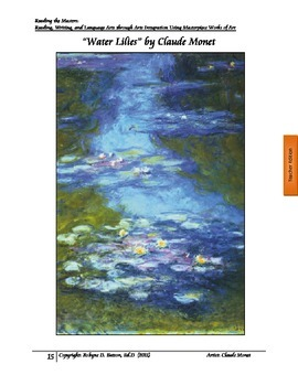Reading the Masters with Claude Monet (Teacher & Student Edition)