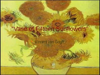 Reading the Masters with Vincent vanGogh (Power Point)