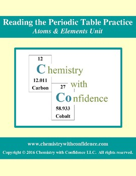 Reading the Periodic Table Practice