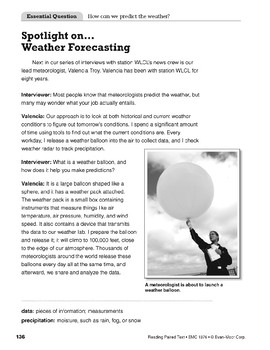 Reading the Weather (Reading Paired Text)