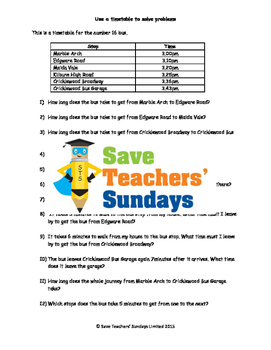 Reading timetables lesson plans, worksheets and more