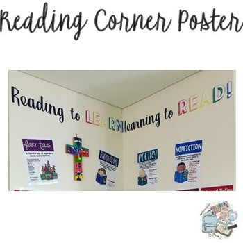 Reading to LEARN, learning to READ! classroom display