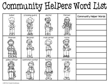 Writing About Community Helpers