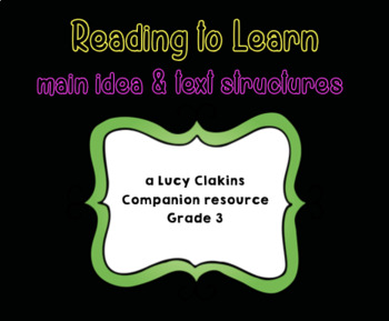 Lucy Calkins Reading to Learn (Grade 3)