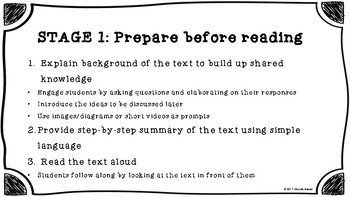Reading to Learn (R2L) Instruction Cards with Templates for Teachers