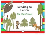 Reading to Learn- Rainforests