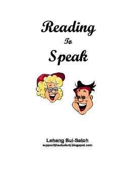 Reading to Speak:  Guided Speaking Activity for English Language Learners
