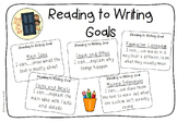 Reading to Writing Goals