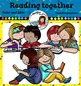 Reading together clip art- Color and B&W
