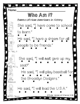 Reading with Dots-Black History