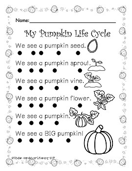 Reading with Dots-Pumpkin Life Cycle