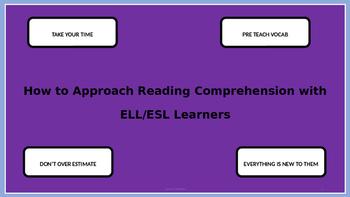 Reading with ESL Students- Teacher Development
