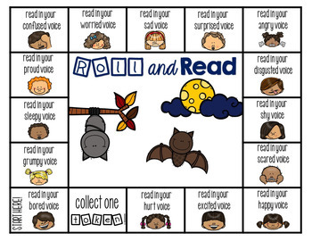 Reading Fluency {A Reading with Expression Game} fall edition