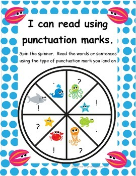 Reading with Fluency and Expression Sea Animal Themed Spinners! *Freebie*