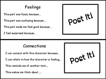 Reading Comprehension Strategies and Skills  with Post Its