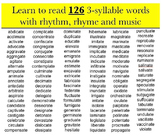 Reading with Rhythm and Rhyme mp4 Kathy Troxel - 3-syllable words ending in ate
