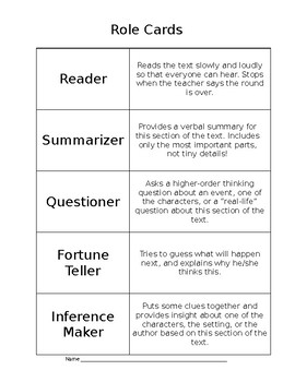 Cooperative Reading with Roles