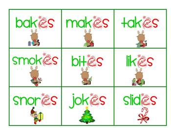 Reading with Rudolph: word ending fun
