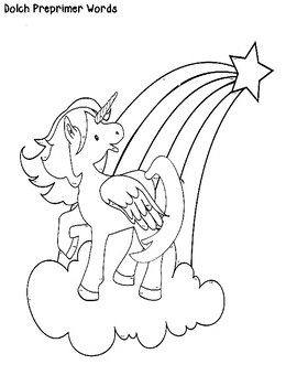 Reading with Unicorns--A Dolch Word Magnify Me Activity