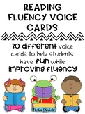 Reading with fluency voice cards