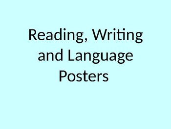 Reading, writing and language posters