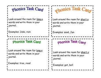 Reading/ELA Task Cards