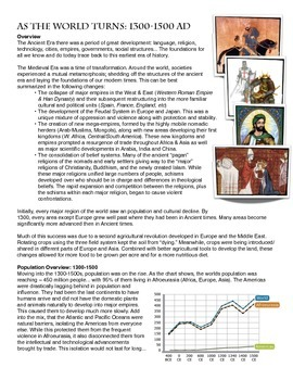 Reading/Graph/Chart: As the World Turns (1300-1500)