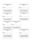 Reading/Math Workshop labels