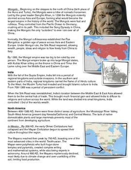 Reading/Graph/Chart: As the World Turns (0400 AD-1300 AD)