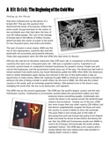 Reading/Worksheet: Introduction to the Cold War