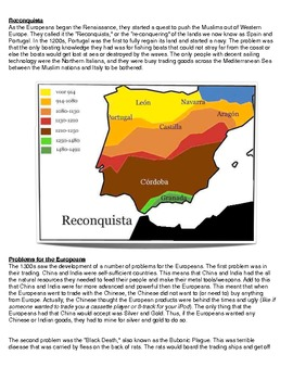 Reading/Worksheet: The Quest of the Europeans (300-1460 AD)