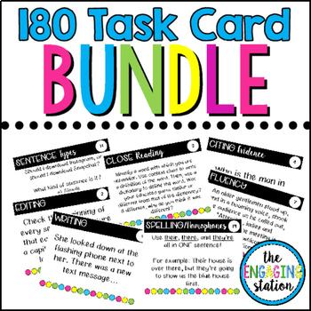 180 Reading/Writing Task Card BUNDLE