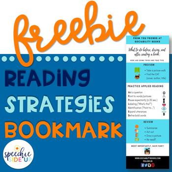 FREE Readings Strategies Bookmark