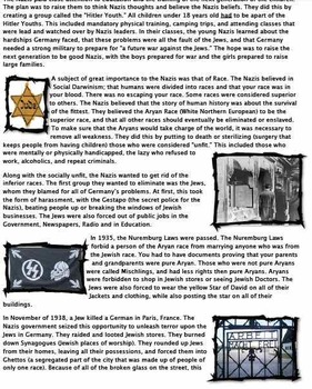 Readings/Worksheets: Rise of the Nazis Bundle Pack