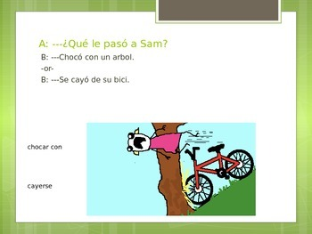 Readlidades 2 5B Speaking Practice - ¿Qué le pasó a Sally? Accidentes