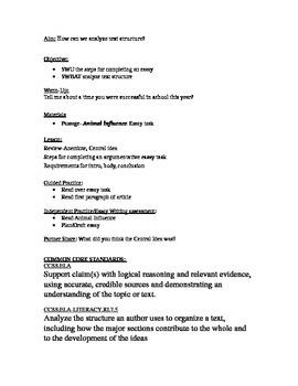 Readworks.org passage + essay task