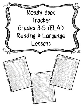 Ready Book Assessment Tracker (CUSTOMIZED for grades 3-5 ELA)