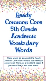 Ready Common Core 5th Grade Academic Vocabulary Words
