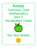 Ready Common Core Mathematics Unit 2 Gr. 2 Vocabulary Cards