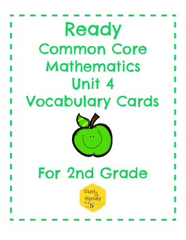 Ready Common Core Mathematics Unit 4 Gr. 2 Vocabulary Cards